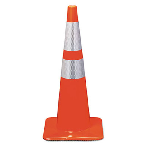 3M Reflective Safety Cone, 12 3/4 x 12 3/4 x 28, Orange (MMM90129R)