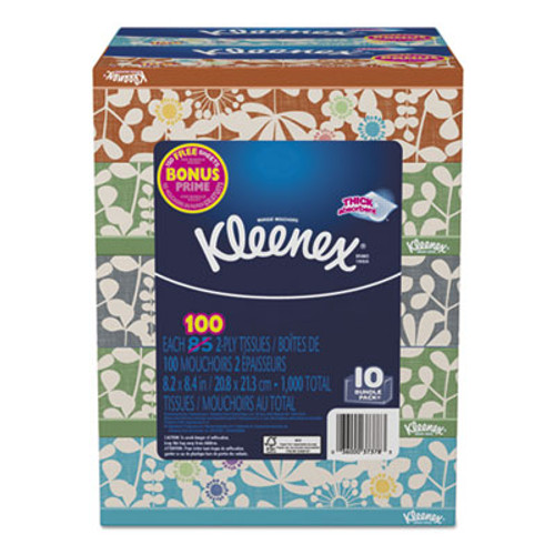 Kleenex Everyday Tissues, 2 Ply, White, 85/Box, 10 Boxes/Pack, 4 Packs/Carton (KCC37378)