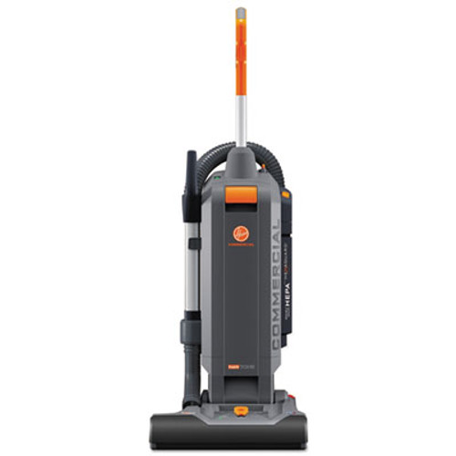 "Hoover HushTone Vacuum Cleaner with Intellibelt, 15"", Orange/Gray (HVRCH54115)"