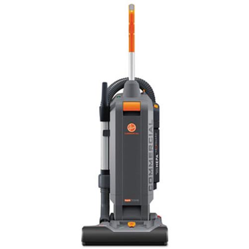 "Hoover HushTone Vacuum Cleaner with Intellibelt, 15"", Orange/Gray (HVRCH54115)"