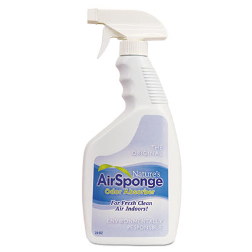 Nature's Air Sponge Odor Absorber Spray, Fragrance Free, 22 oz Spray Bottle, 12/Carton (DEL10132CT)
