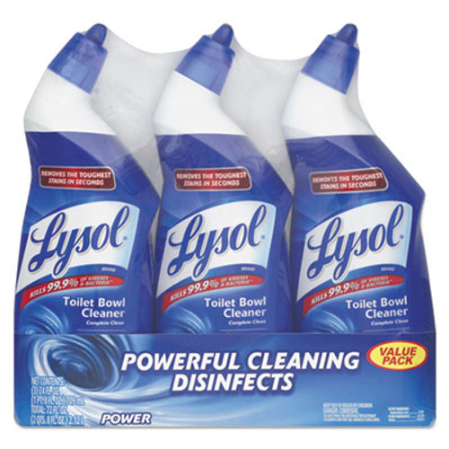 LYSOL Disinfectant Toilet Bowl Cleaner, Wintergreen Scent, 24 oz Bottle, 3/Pack (RAC90704PK)