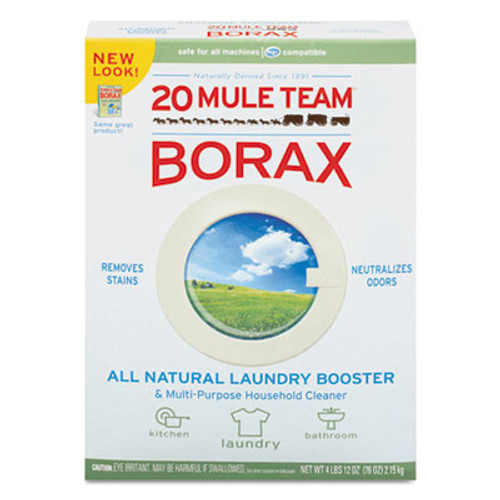 Dial 20 Mule Team Borax Laundry Booster, Powder, 4 lb Box (DIA00201)