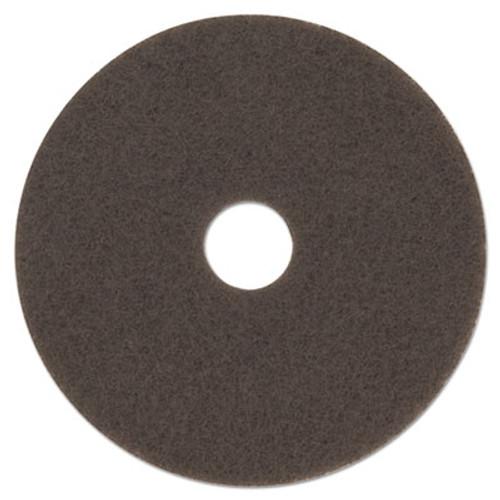 "3M Low-Speed High Productivity Floor Pad 7100, 15"" Diameter, Brown, 5/Carton (MMM08443)"