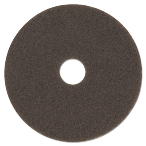 "3M Low-Speed High Productivity Floor Pad 7100, 15"" Diameter, Brown, 5/Carton (MMM08443)"