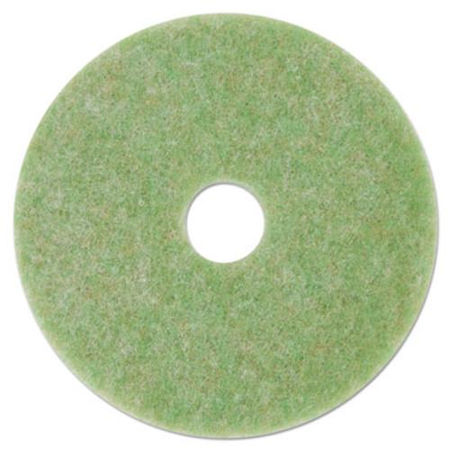 """3M Low-Speed TopLine Autoscrubber Floor Pads 5000, 17"""" Diameter, Green/Orange, 5/CT (MMM18049)"""
