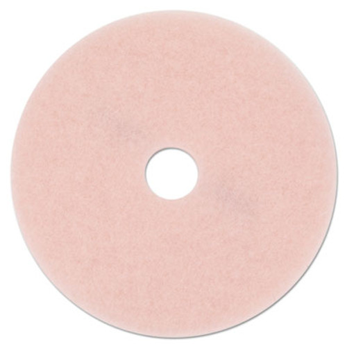 "3M Ultra High-Speed Eraser Floor Burnishing Pad 3600, 27"" Diameter, Pink, 5/Carton (MMM25863)"