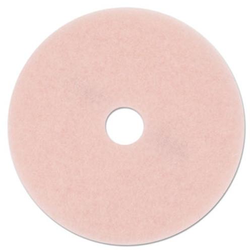 "3M Ultra High-Speed Eraser Floor Burnishing Pad 3600, 27"" Diameter, Pink, 5/Carton (MMM25863)"