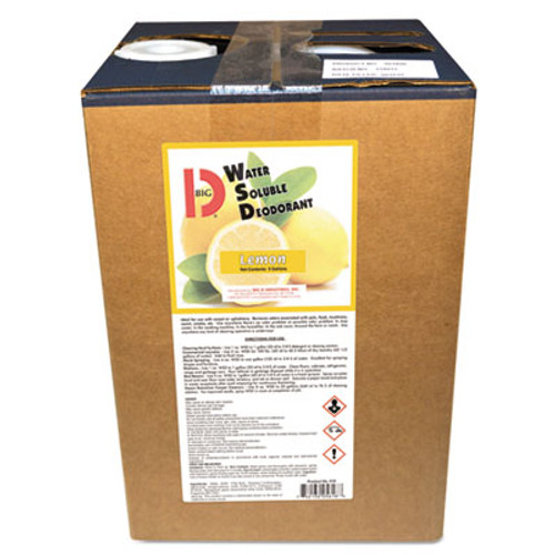 Big D Industries Water-Soluble Deodorant, Lemon, 5 Gallon Pail (BGD5618)