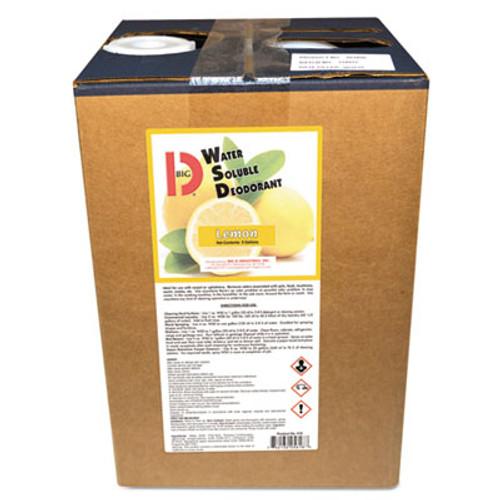 Big D Industries Water-Soluble Deodorant, Lemon, 5 Gallon Pail (BGD5618)