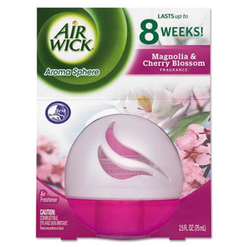 Air Wick Aroma Sphere Air Freshener, Magnolia & Cherry Blossom, 2.5oz, 3/Carton (RAC89330)