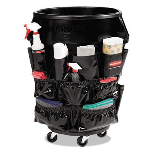 Rubbermaid Brute Caddy Bag, 12 Pockets, Black, 6/Carton (RCP1867533CT)