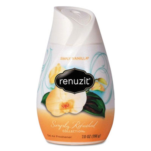 Renuzit Adjustables Air Freshener, Simply Vanilla, Solid, 7 oz, 12/Carton (DIA03661CT)