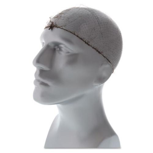 Royal Lightweight Latex-Free Hairnets, Dark Brown, 24 in., Nylon, 144/Box (RPPRPH144LTDBPK)
