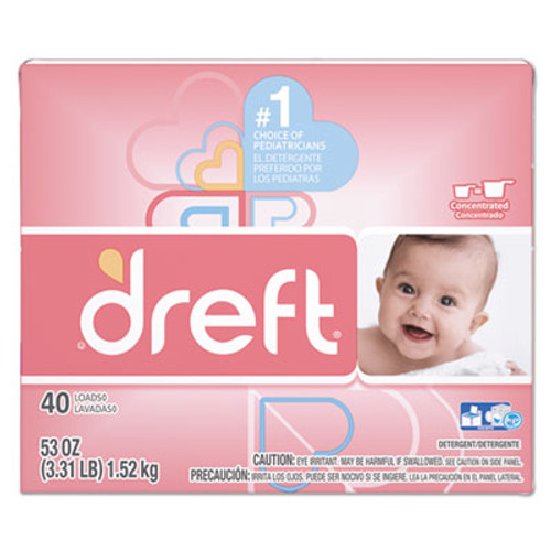 Dreft Ultra Laundry Detergent, Powder, Original Scent, 53 oz Box (PGC85882EA)