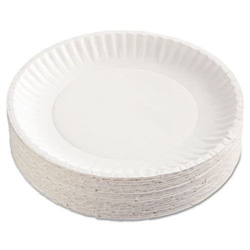 "AJM Packaging Corporation Paper Plates, 9"" Diameter, White, 100/Pack (AJMPP9GRAWHPK)"