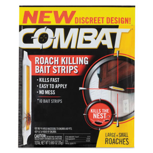 Combat Roach Bait Insecticide Strips, 0.68 oz, 10/Pack, 12 Pack/Carton (DIA00974)