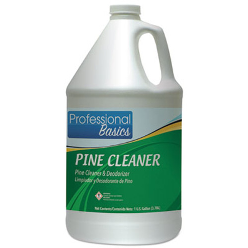 Theochem Laboratories Professional Basics Pine Cleaner, Pine Scent, 1 gal Bottle, 4/Carton (TOL505917)
