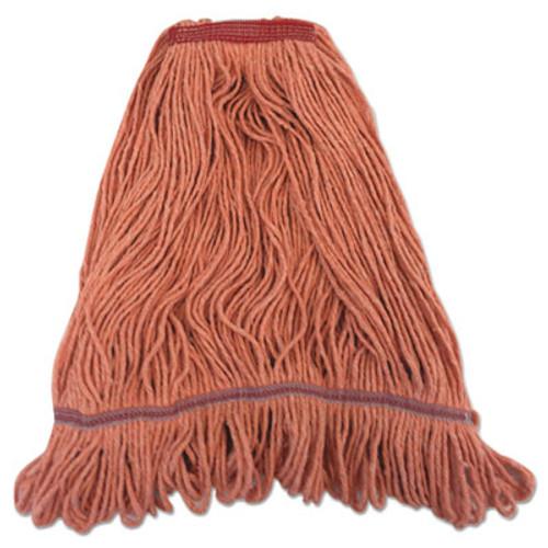 "Boardwalk Pro Loop Web/Tailband Mop Head, Orange, Large, 1.3"" Headband (BWK1900LONB)"