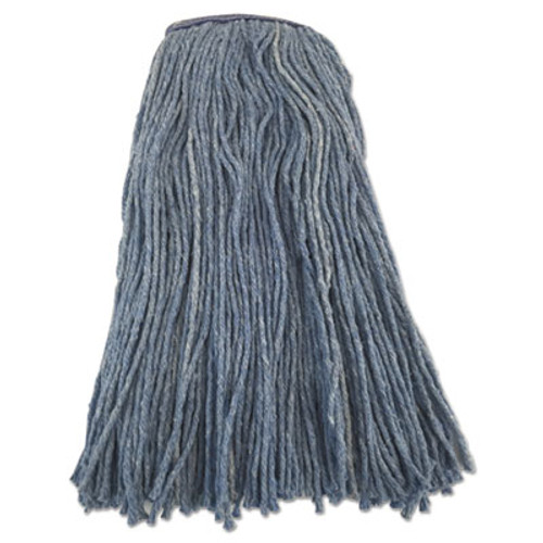 "Boardwalk Cut-End Wet Mop Head, 24 oz, Blue, 1.3"" Headband (BWK8024FB)"