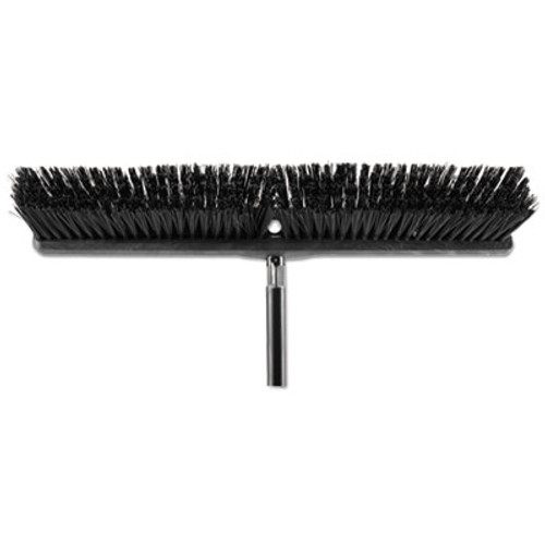 "Rubbermaid Heavy Duty Push Broom Rough Surface, 24"" x 3"", Black, Polypropylene, 12/Carton (RCP1861212CT)"