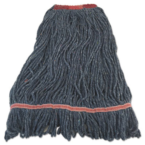"Boardwalk Pro Loop Web/Tailband Mop Head, Blue, Large, 1 1/4"" Headband (BWK1800LBNB)"