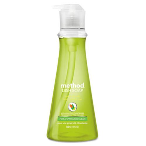 Method Dish Soap, Lime & Sea Salt, 18 oz Pump Bottle, 6/Carton (MTH01240)