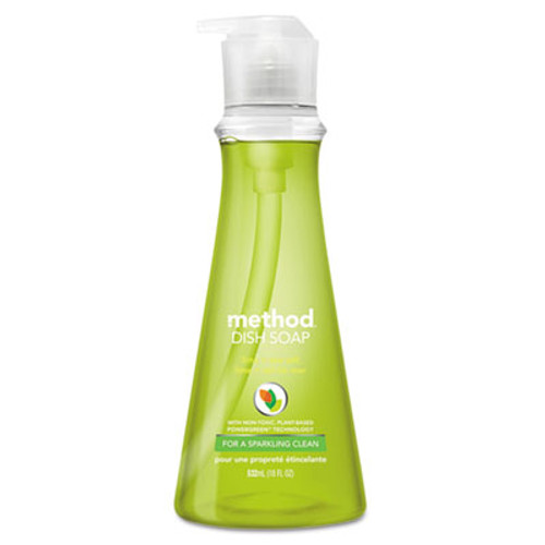 Method Dish Soap, Lime & Sea Salt, 18 oz Pump Bottle, 6/Carton (MTH01240)