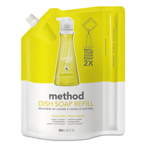 Method Dish Soap Refill, Lemon Mint, 36 oz Pouch (MTH01341EA)