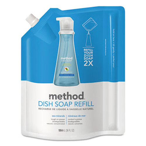Method Dish Soap Refill, Sea Minerals, 36 oz Pouch (MTH01315EA)