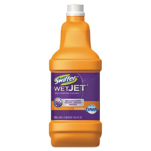 Swiffer WetJet System Cleaning-Solution Refill, Wood Cleaner, 1.25L Btl, Citrus, 6/CT (PGC91228CT)