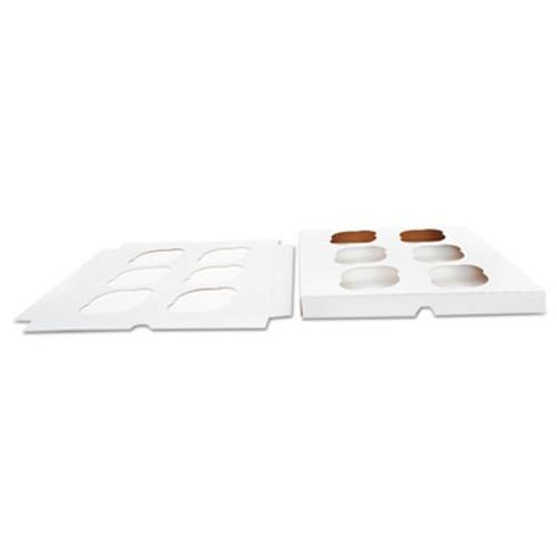 SCT Cupcake Holder Inserts, Paperboard, White/Kraft, 9 7/8 x 9 7/8 x 7/8, 200/Ctn (SCH10013)