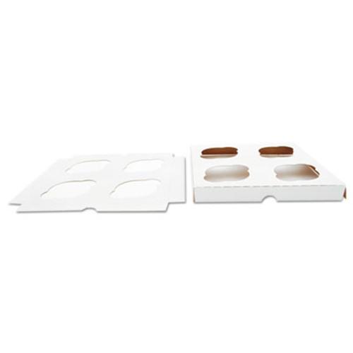 SCT Cupcake Holder Inserts, Paperboard, White/Kraft, 7 7/8 x 7 7/8 x 7/8, 200/Ctn (SCH10007)