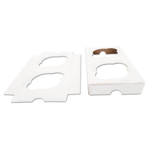 SCT Cupcake Holder Inserts, Paperboard, White/Kraft, 7 7/8 x 3 7/8 x 7/8, 200/Ctn (SCH10004)