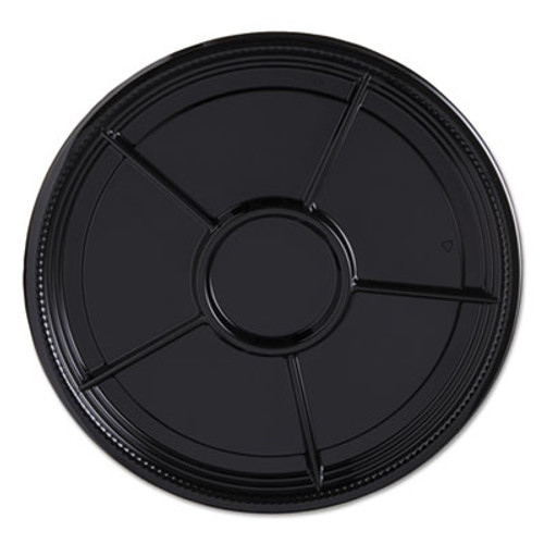 "WN Caterline Casuals Thermoformed Platters, PET, Black, 12"" Diameter, 25/Carton (WNAA522BL)"