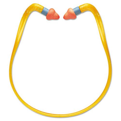 Howard Leight QB2HYG Banded Multi-Use Earplugs, 25NRR, Orange Band/Orange Plug,10EA/BX,10BX/CT (HOWQB2HYGBX)