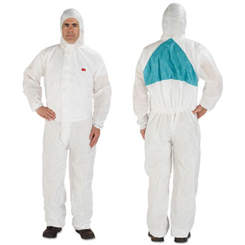 3M Disposable Protective Coveralls, White, Large, 6/Pack (MMM4520BLKL)