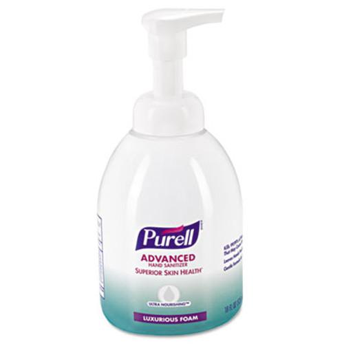 PURELL Advanced Hand Sanitizer Ultra Nourishing Foam, 18oz, Fragrance Free, 4/Ct (GOJ579904CT)