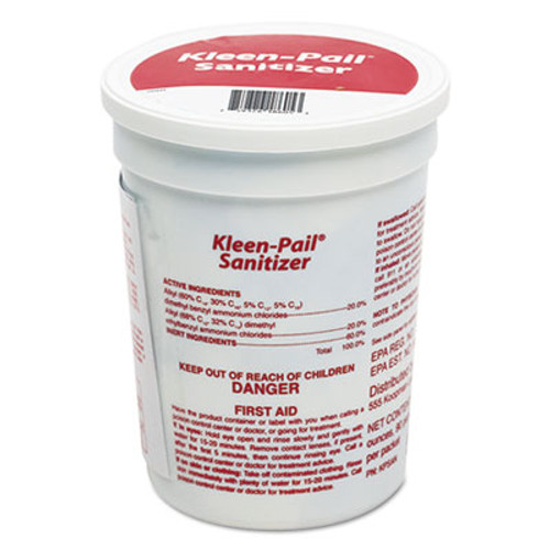 San Jamar Kleen-Pail Sanitizer Packets, Unscented, 90/Carton (SJMKPSAN)