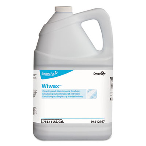 Diversey Wiwax Cleaning & Maintenance Emulsion, Liquid, 1 gal Bottle, 4/Carton (DVO94512767)