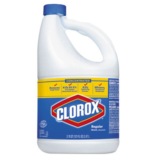 Clorox Regular Bleach with CloroMax Technology, 121 oz Bottle, 3/Carton (CLO30770)
