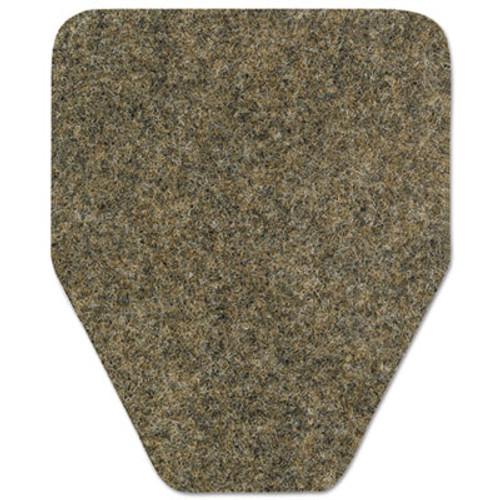 WizKid Antimicrobial Floor Mat, Urinal, 17 x 20 1/2, Brown, 48/Carton (WIKOR10001BR4)