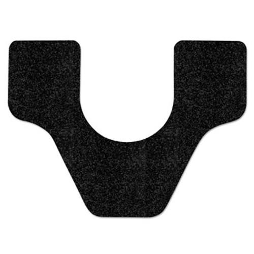 WizKid Antimicrobial Floor Mat, Commode, 27 x 25, Black, 28/Carton (WIKC20001BL4)