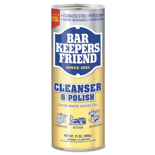 Bar Keepers Friend Powdered Cleanser and Polish, 21 oz Can, 12/Carton (BKF11514CT)