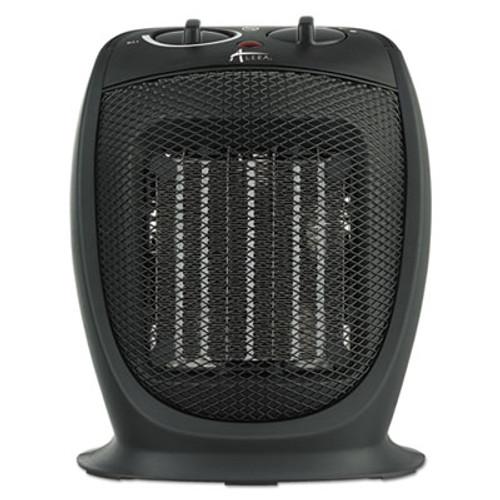 "Alera Ceramic Heater, 7 1/8""w x 5 7/8""d x 8 3/4""h, Black (ALEHECH09)"