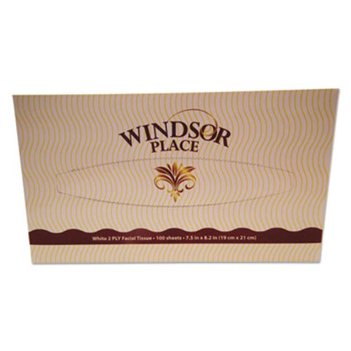 "Atlas Paper Mills Windsor Place Premium Facial Tissue, 2-Ply, White, 7.5"" x 8.2"", 100/Box (APM330)"