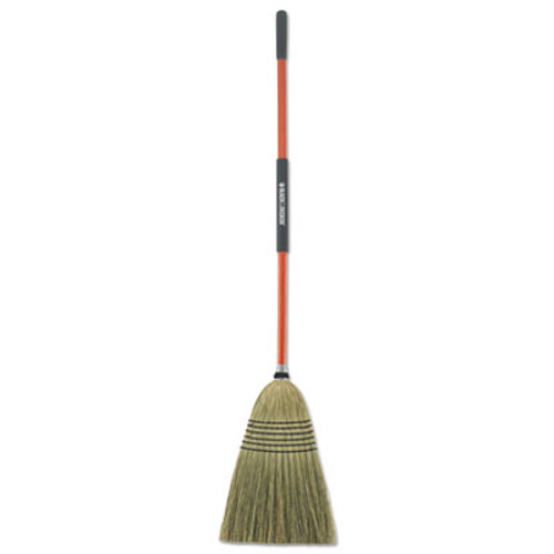 "BLACK+DECKER Large Corn Broom, Corn Bristles, 16 1/2"" Bristles, 55 1/2"", Orange/Black (BUT261020)"