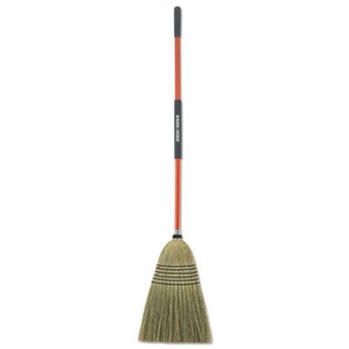 "BLACK+DECKER Large Corn Broom, Corn Bristles, 16 1/2"" Bristles, 55 1/2"", Orange/Black (BUT261020)"