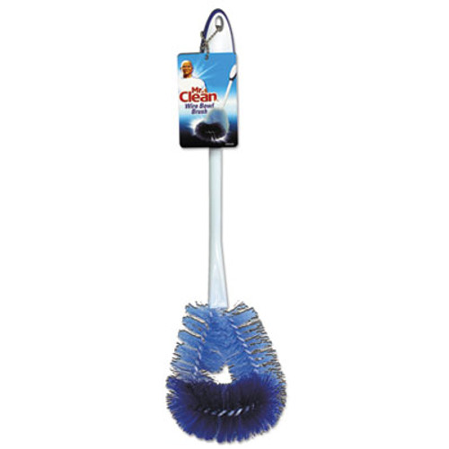 """Mr. Clean Twisted Wire Bowl Brush, 11 1/2"""" Handle,4"""" dia., Plastic, White, 3/Box (BUT440430)"""