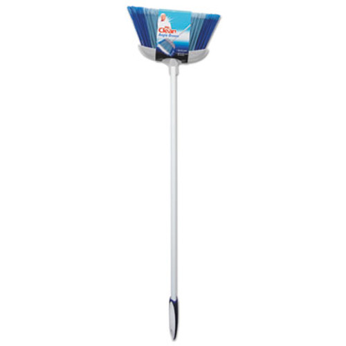 """Mr. Clean Deluxe Angle Broom, 5 1/2"""" Bristles, 55.37"""", Metal Handle, White (BUT441380)"""